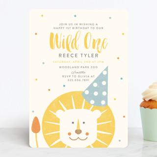 Wild One Children's Birthday Party Invitations