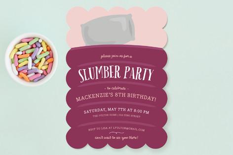 Sweet Slumber Children's Birthday Party Invitations