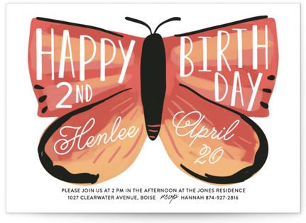 birthday butterfly Children's Birthday Party Invitations