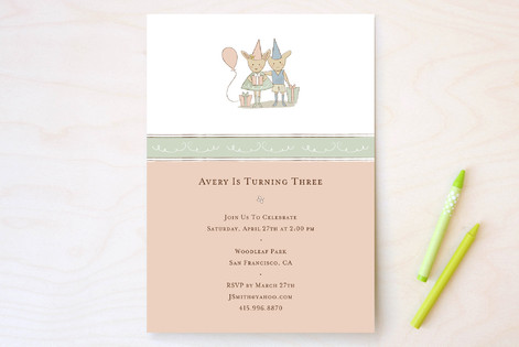 Bunny Children's Birthday Party Invitations
