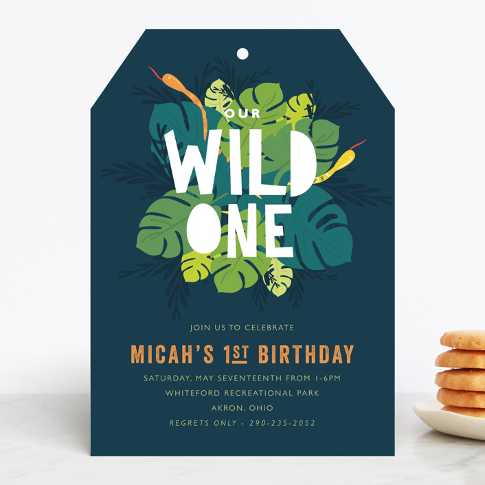 """Wilder"" - Children's Birthday Party Invitations in Jungle by Bethany Anderson."