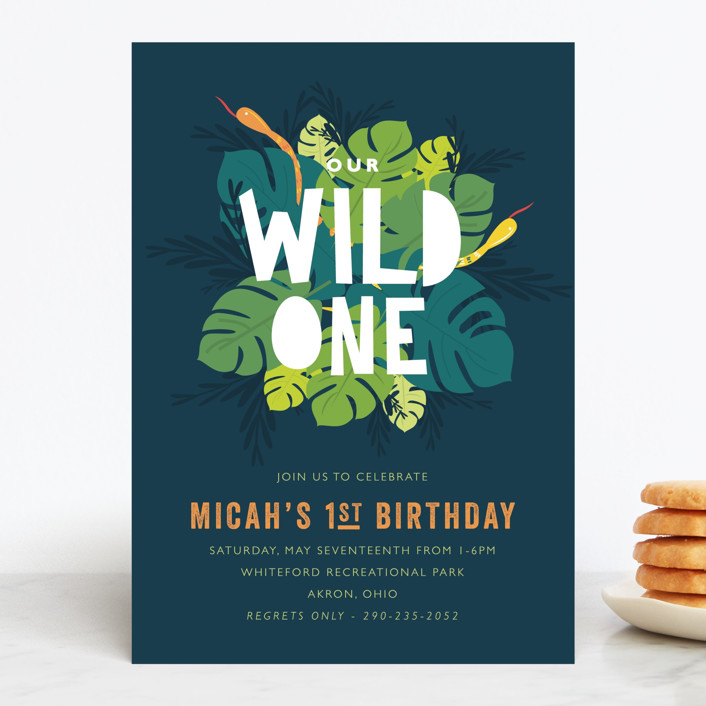 """""""Wilder"""" - Children's Birthday Party Invitations in Jungle by Bethany Anderson."""
