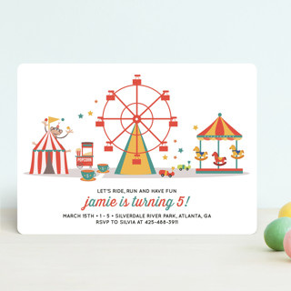 theme park children s birthday party invitations minted