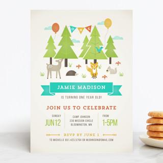 Wild Woodland Children's Birthday Party Invitations