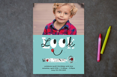 Look Children's Birthday Party Invitations