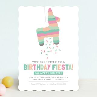 Pinata Children's Birthday Party Invitations