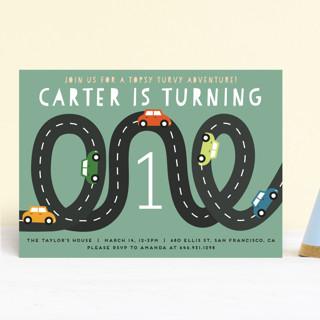 Little Racer Children's Birthday Party Invitations