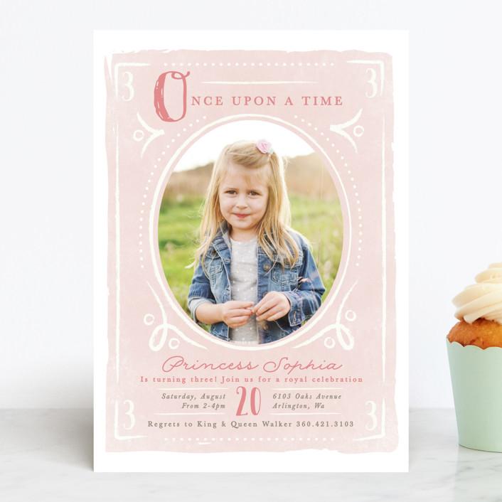Fairytale Princess Children S Birthday Party Invitations By Karidy