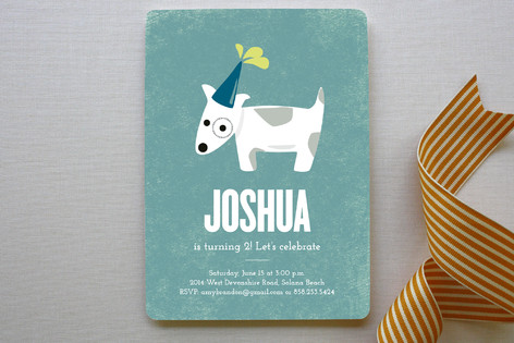 Spotted Puppy Childrens Birthday Party Invitation – Puppy Party Invitation