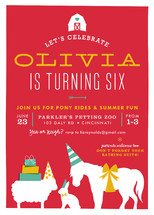 Farm Party Children's Birthday Party Invitations By Carrie ONeal