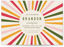 This is a green kids birthday invitation by Iveta Angelova called Color Burst with standard printing on signature in standard.