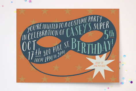 Scout Children's Birthday Party Invitations
