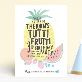 Tutti Frutti Children's Birthday Party Invitations