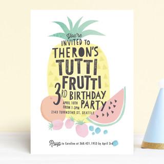 Tutti Frutti Children's Birthday Party Invitations