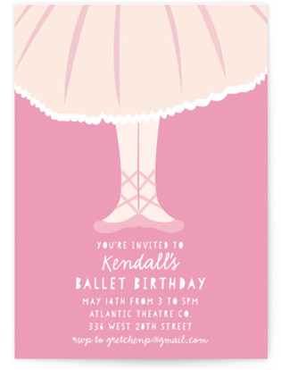 ballerina birthday party invitations minted