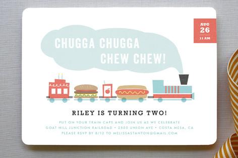 Chugga Chew Chew Children's Birthday Party Invitations