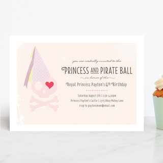 Princess and Pirate Ball Childrens Birthday Party – Princess and Pirates Party Invitations