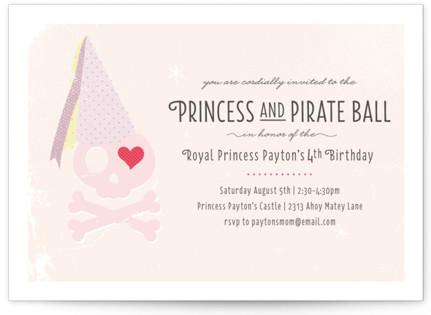 Pirate Kids Birthday Party Invitations
