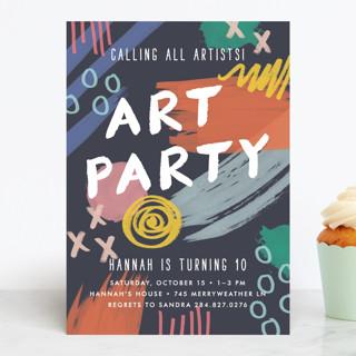 Art Party Children's Birthday Party Invitations