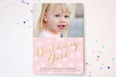 Glitter Girl Children's Birthday Party Invitations