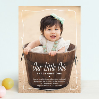 Little One Children's Birthday Party Invitations