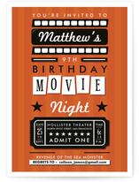 Drive in Movie Night Children's Birthday Party Invitations