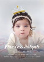 Princess Crown Doodle Children's Birthday Party Invitations By Lehan Veenker