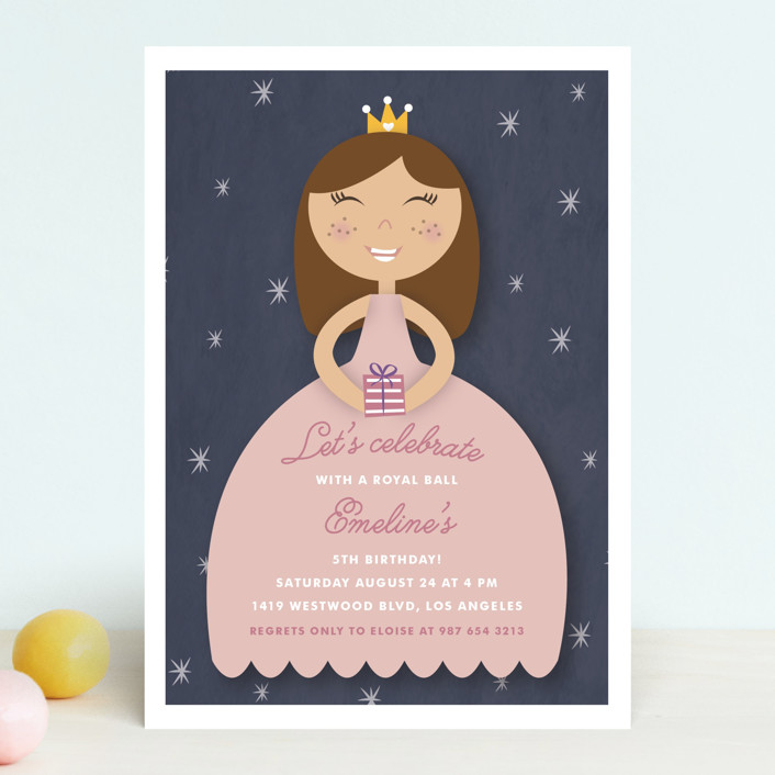 """""""Royal Ball"""" - Children's Birthday Party Invitations in Cindy by Giselle Zimmerman."""