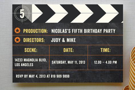 The Movie Children's Birthday Party Invitations