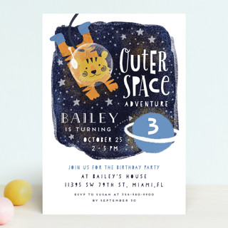 Outer Space Childrens Birthday Party Invitations Minted