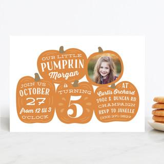 Pumpkin Patch Children's Birthday Party Invitations