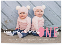 This is a pink kids birthday invitation by annie clark called Bright Future with standard printing on smooth signature in standard.