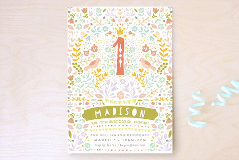 First Festival Children's Birthday Party Invitations