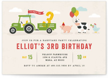 This is a red kids birthday invitation by Michelle Taylor called Party Parade with standard printing on signature in standard.