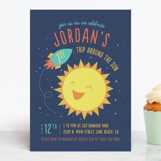 Around The Sun Children's Birthday Party Invitations