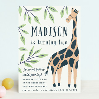 Wild Giraffe Children's Birthday Party Invitations