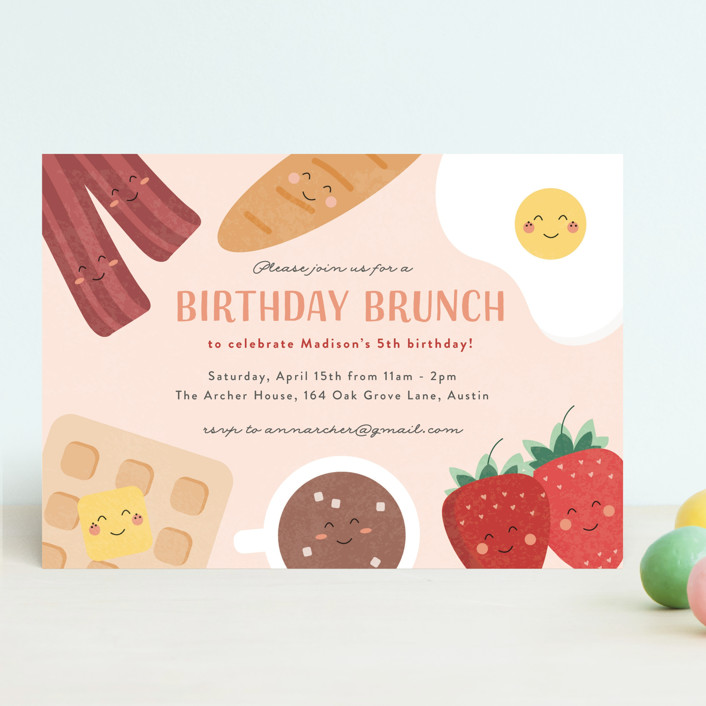 Brunch Party Kids' Birthday Party Invitation
