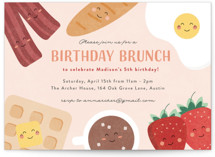 This is a pink kids birthday invitation by Erica Krystek called Whole Brunch with standard printing on signature in standard.