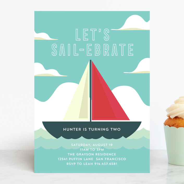 Nautical Kids' Birthday Party Invitation
