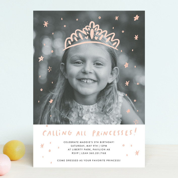 Princess & Fairytale Kids' Birthday Party Invitation