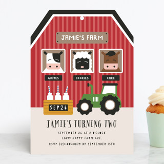 Happy Farm Children's Birthday Party Invitations