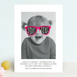 Birthday Girl Shades Children's Birthday Party Invitations