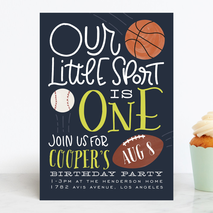 Sports & Games Kids' Birthday Party Invitation