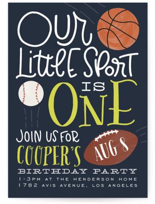 Sports Fan Children's Birthday Party Invitations