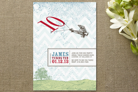 Incoming: 10th Birthday! Children's Birthday Party Invitations