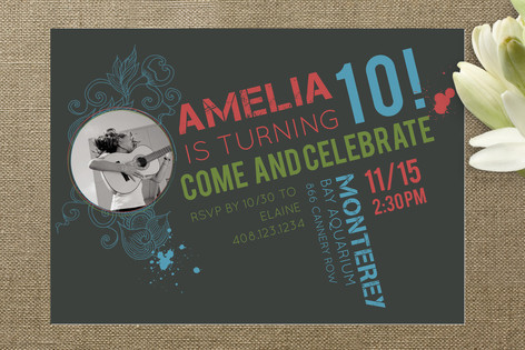 Our Rockstar Children's Birthday Party Invitations