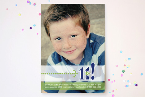 Birthday Star Boy Children's Birthday Party Invitations