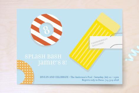 Splash Bash Children's Birthday Party Invitations