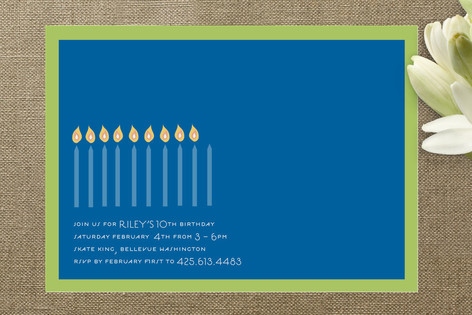 Kindle Children's Birthday Party Invitations