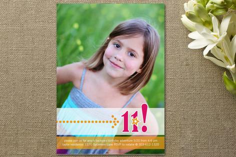 Birthday Star Girl Children's Birthday Party Invitations